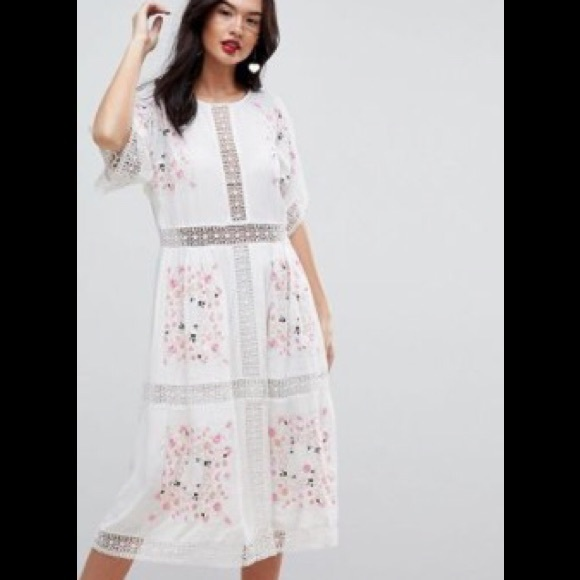 ed560f74d2 ASOS embroidered midi dress